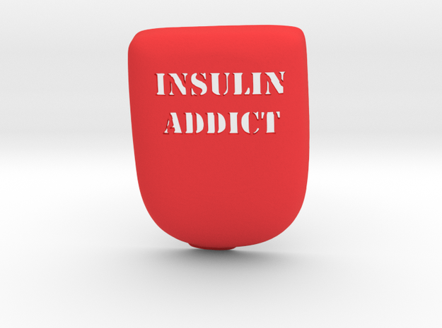 Insulin Addict Omnipod Case in Red Strong & Flexible Polished