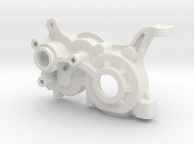 B5M LCG 4Gear Left Gearbox in White Strong & Flexible