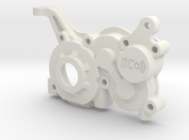 B5M LCG 4gear Right Gearbox in White Natural Versatile Plastic