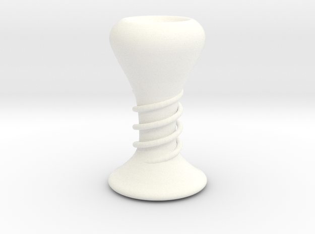 Coiled Candle Stick in White Strong & Flexible Polished