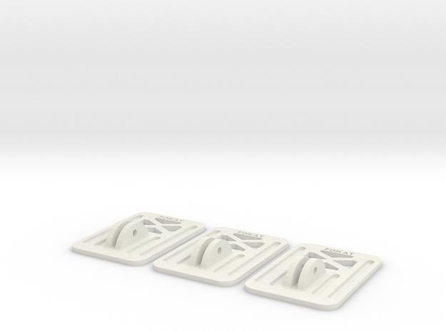 Mobius / RunCam Spare Mount Plate in White Natural Versatile Plastic