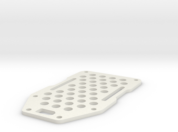 Armattan Morphite 180 Top Plate in White Natural Versatile Plastic