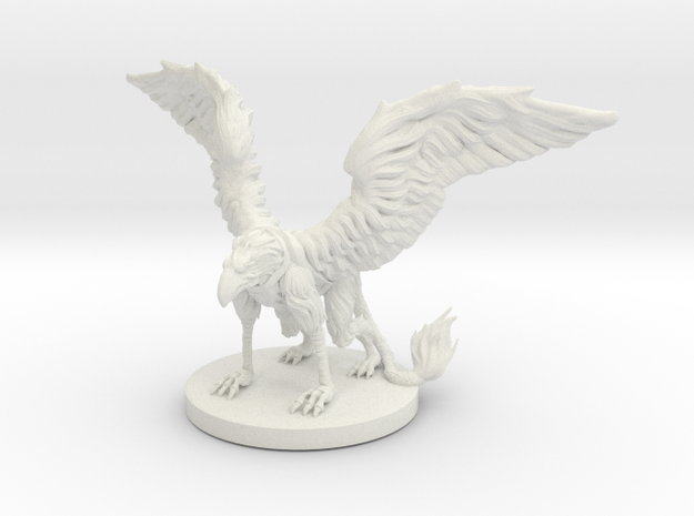 Griffon Miniature in White Natural Versatile Plastic