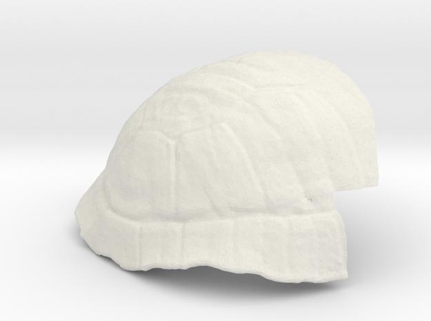 Turtle Shell Prosthetic in White Natural Versatile Plastic