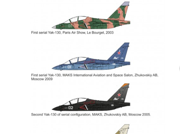 1/144 Yak-130 3d printed Decals are available here : http://www.vector144.eu/en/6-1144-decals