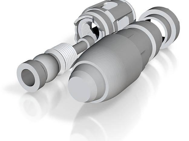 Sonic Screwdriver - Tennant - SteelFinal 3d printed
