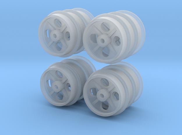 12 Feldbahn-Räder 400mm, 1:43,5/1:45/1:48 in Smoothest Fine Detail Plastic