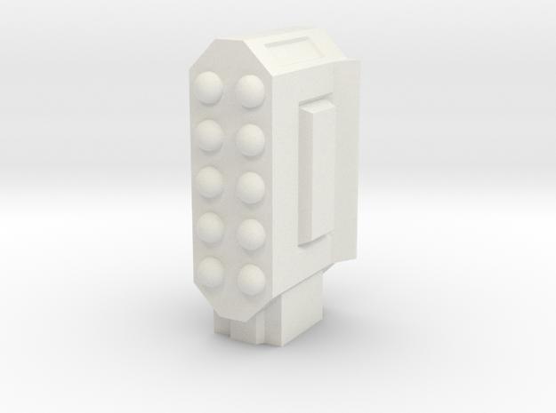 Missile Pod - Rectangular Vertical in White Natural Versatile Plastic