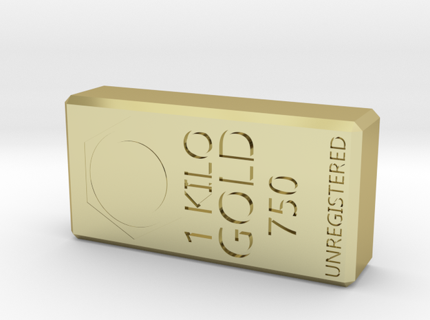 Real Gold Bar in 18k Gold