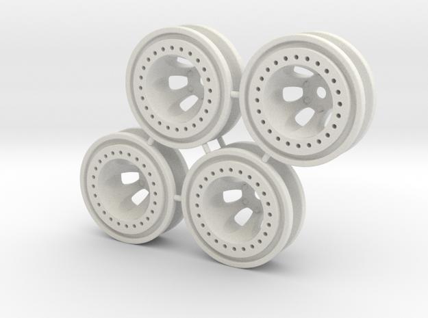 "Bead-lock 3/8"" offset 7mm hex - Losi McRC/Trekker in White Natural Versatile Plastic"