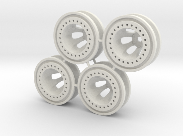 """Bead-lock 1/2"""" offset 7mm hex - Losi McRC/Trekker in White Strong & Flexible"""