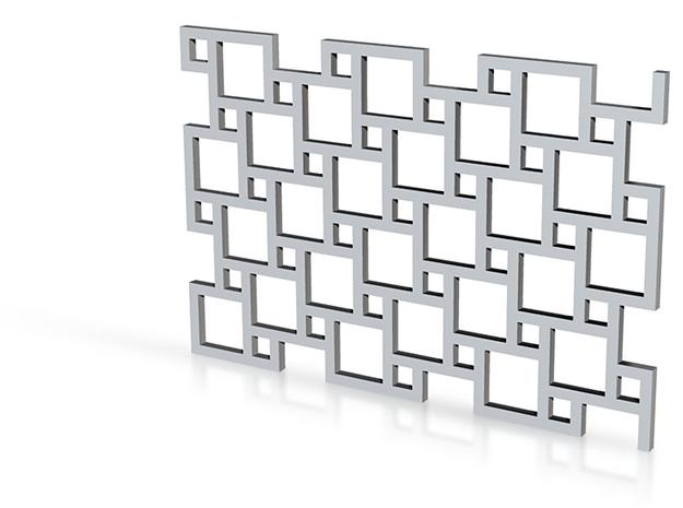Texture Stamp: Tiles in White Natural Versatile Plastic
