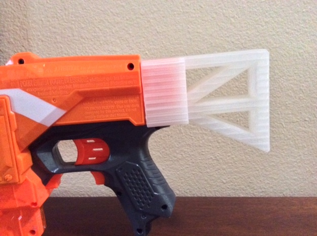 Nerf Gun But  in White Strong & Flexible