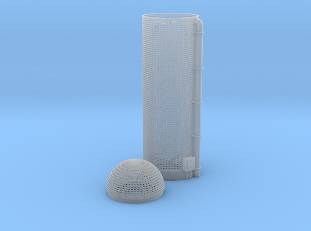 Corn Silo Z Scale in Smooth Fine Detail Plastic