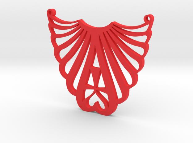 LUVME pendant in Red Processed Versatile Plastic