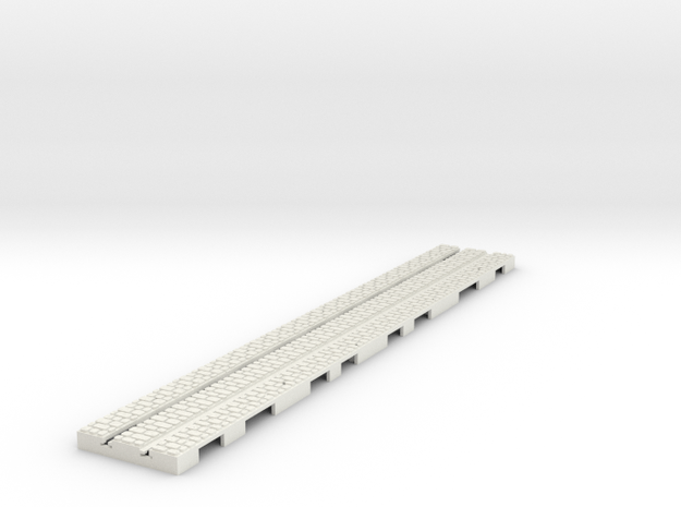 P-9stw-long-straight-1a small stone in White Natural Versatile Plastic
