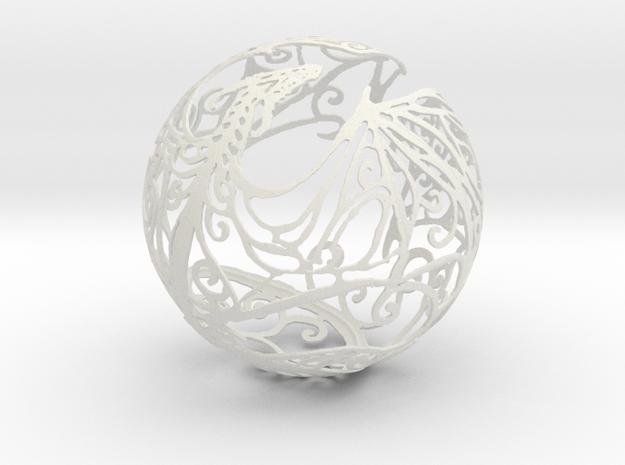 Dragon Sphere Ornament in White Natural Versatile Plastic