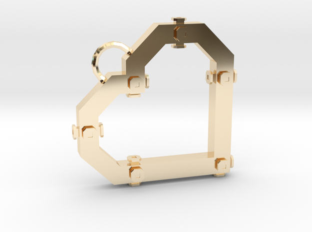 Construx Heart in 14k Gold Plated