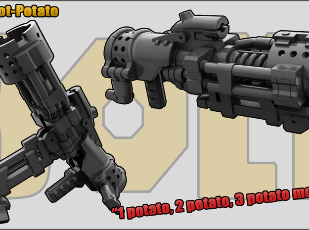 Hot Potato: Grenade launcher/Mortar in White Natural Versatile Plastic