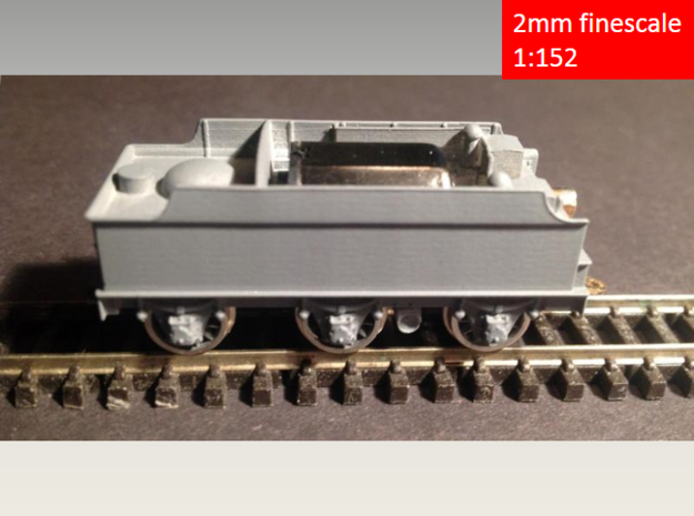 GWR Churchward 3500 tender, motor cutout, 2mm FS  in Frosted Extreme Detail