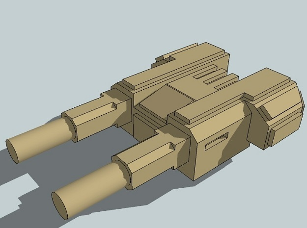 6mm Sci-Fi Twin-Gun Turrets (12pcs) 3d printed