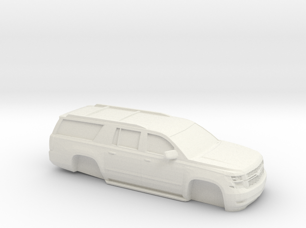 1/64 2015 Chevrolet Suburban Without Tire's in White Natural Versatile Plastic