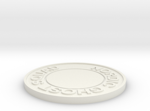 Nordic Ghost Squad Challenge Coin v3 in White Strong & Flexible
