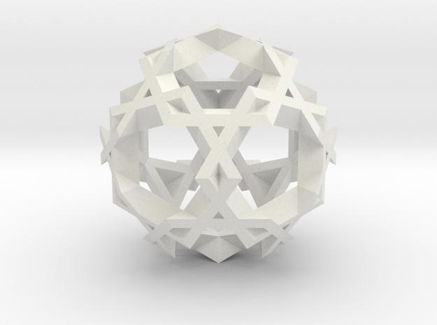 Asterisk Ball - 2.4 cm in White Strong & Flexible