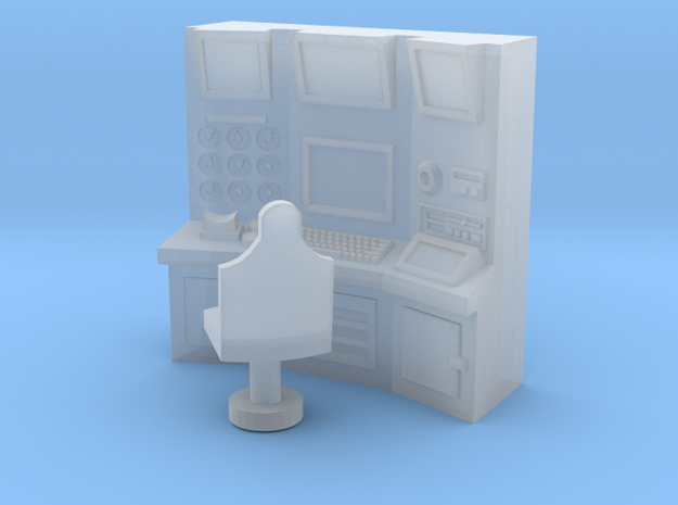 15mm Sci-Fi Wall Console 3d printed