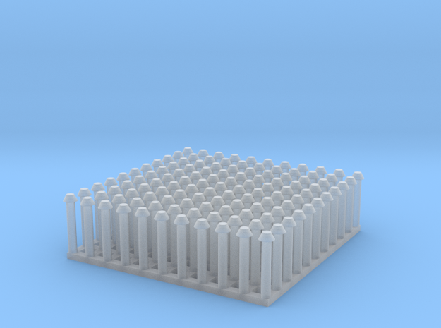 "1:24 Conical Rivet Set (Size: 0.875"") in Smooth Fine Detail Plastic"