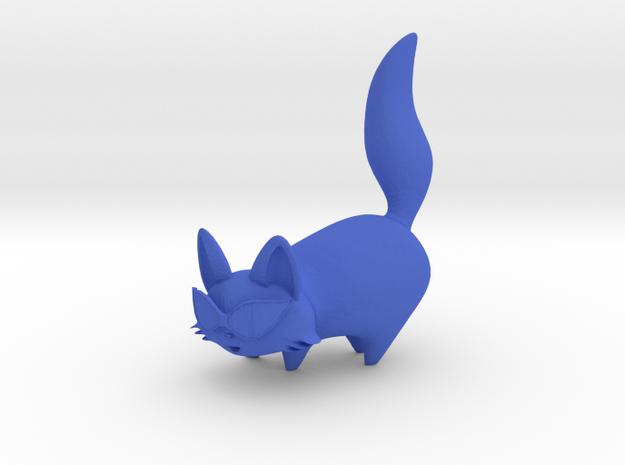 Cartoon Cat in Blue Processed Versatile Plastic
