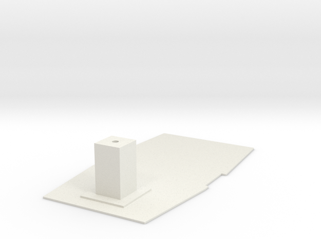 FX-61 Phantom Battery Tray with Launch Hook Post in White Natural Versatile Plastic