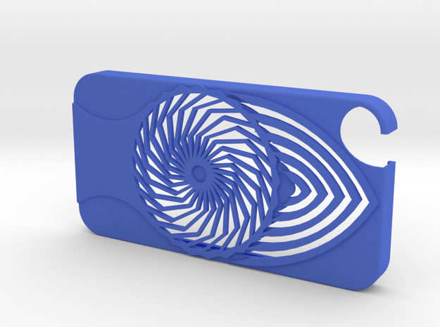Cover IPhone 4/4s in Blue Strong & Flexible Polished