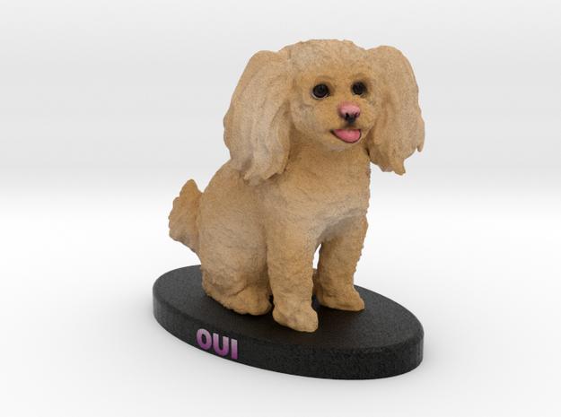 Custom Dog Figurine - Oui in Full Color Sandstone
