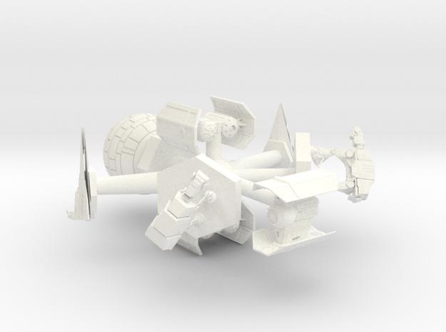 Back Row Empire Chess Set in White Processed Versatile Plastic