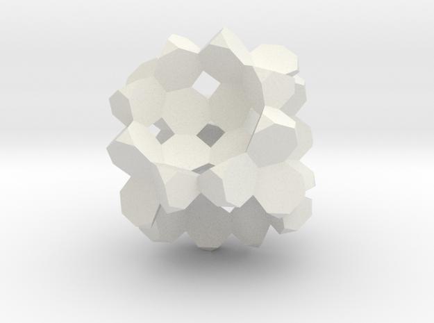 Heptagon-3D-Fill in White Natural Versatile Plastic