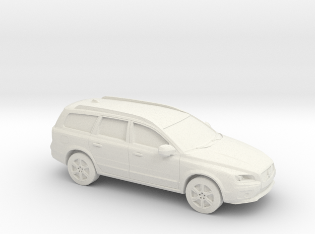 1/87 2015 Volvo XC 70 in White Natural Versatile Plastic