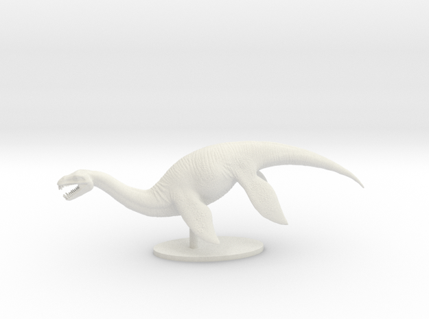 Plesiosaur in White Natural Versatile Plastic