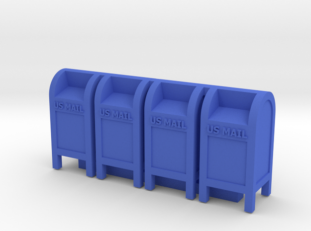 Mail Box - US Mail (4) in Blue Processed Versatile Plastic