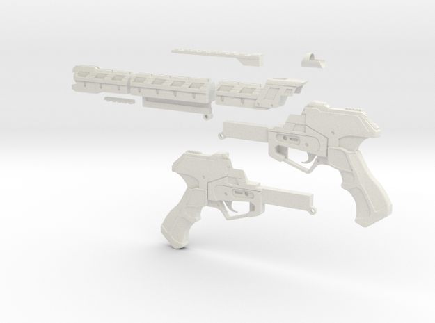 "RW1 Railgun Advanced Warfare ""Full scale"" in White Strong & Flexible"