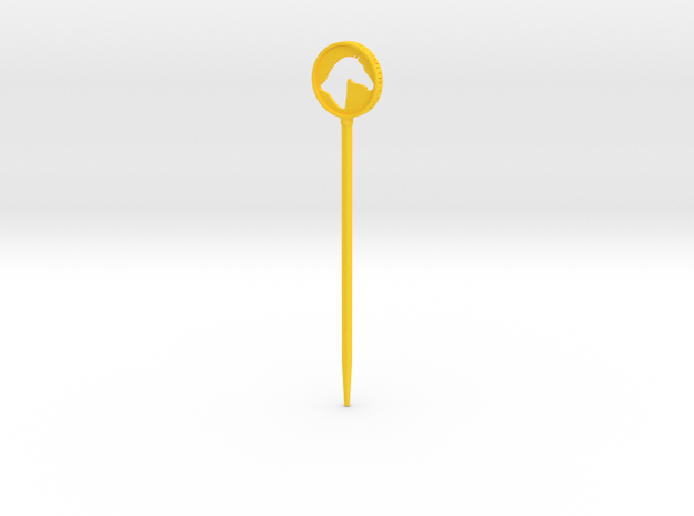 Branded Hair Stick (Single Prong) in Yellow Strong & Flexible Polished