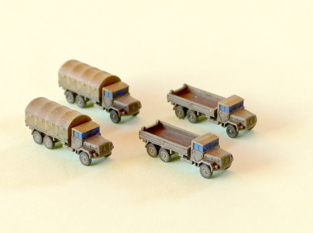 German 7to Truck KHD Jupiter Cargo 1/285 6mm in Smooth Fine Detail Plastic