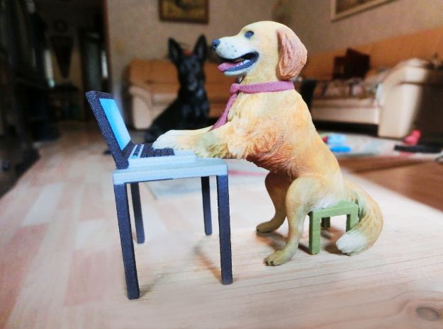 Golden Retriever stuck with Work Laptop