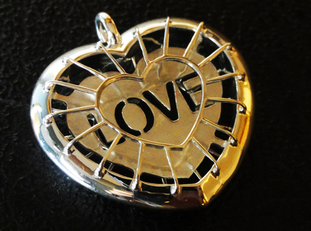 Protected Love in Polished Silver