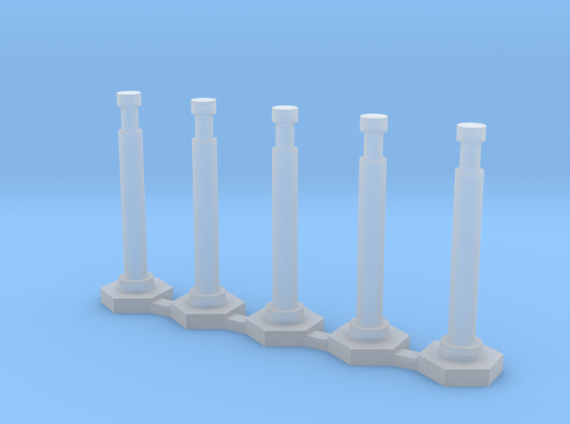 """48"""" Delineator """"Grabber"""" Cones 5 Pack in Smooth Fine Detail Plastic"""