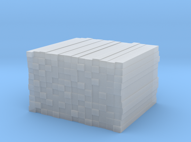 Stack of Railroad Ties - Neat in Smooth Fine Detail Plastic