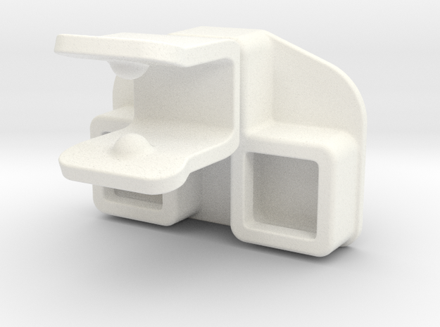 tow coupling for Playmobil car in White Processed Versatile Plastic