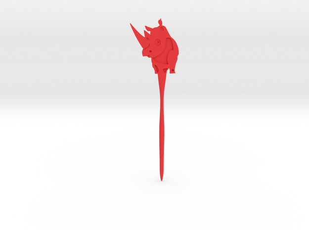 Rhinoceros Hair Pin in Red Strong & Flexible Polished