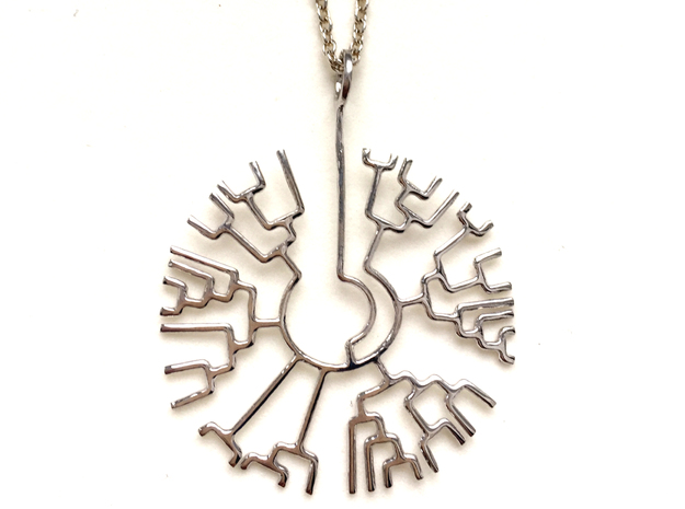 Phylogenetic Tree pendant: science jewelry