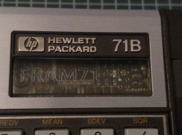 FRAM71 Bezel in Transparent Acrylic